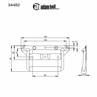 ADAM HALL 34482   Manija exterior con resorte para anvil o baúl