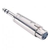 Adam Hall 7856 | Conector adaptador XLR Hembra a Plug Estéreo de 6.3mm