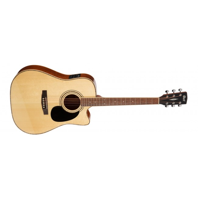CORT AD880CE-LH-NS | Guitarra Electroacústica Serie Standard para Zurdos Natural Satin