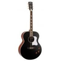 CORT CJ-RETRO-VBM | Guitarra Jumbo Electroacústica Vintage Black Matte