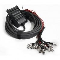 PROEL EBN1604 | Caja de Escenario de Audio de 20 Canales 16 IN / 4 OUT de 25 m