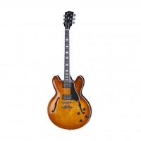 GIBSON ESDP16FBNH1 | Guitarra Electrica Memphis ES-335 Block Faded Lightburst