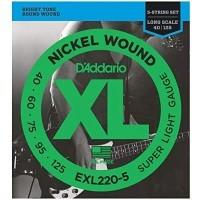 DADDARIO EXL220-5   Cuerdas para Bajo Eléctrico de 5 Cuerdas Calibres 40-125