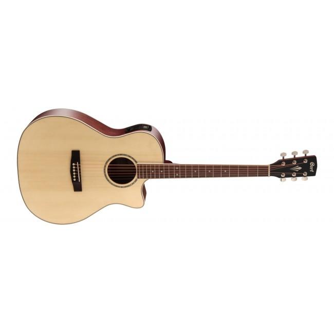 CORT GA-MEDX-LH-OP   Guitarra Electroacústica Serie Grand Regal para Zurdos Open Pore