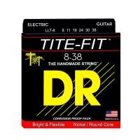 DR Strings LLT-8 | Cuerdas para Guitarra Eléctrica Tite Fit Electric Round Core
