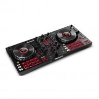 NUMARK MIXTRACKPLATINUMFX | Controlador de DJ Avanzado de 4 Cubiertas con Pantallas Jog Wheel y Paletas de Efectos
