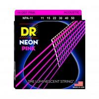 DR STRING NPA-11 | Cuerdas para Guitarra Acústica Neon Pink Calibres 11-50