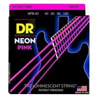 DR STRING NPB-40 | Cuerdas para Bajo Electrico Neon Rosa Calibres 40-100
