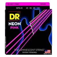 DR STRING NPB-45 | Cuerdas para Bajo Electrico Neon Rosa Calibres 45-105