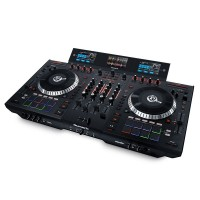 Numark NS7III | Controlador y Mezclador de DJ Motorizado de 4 Canales con Pantallas