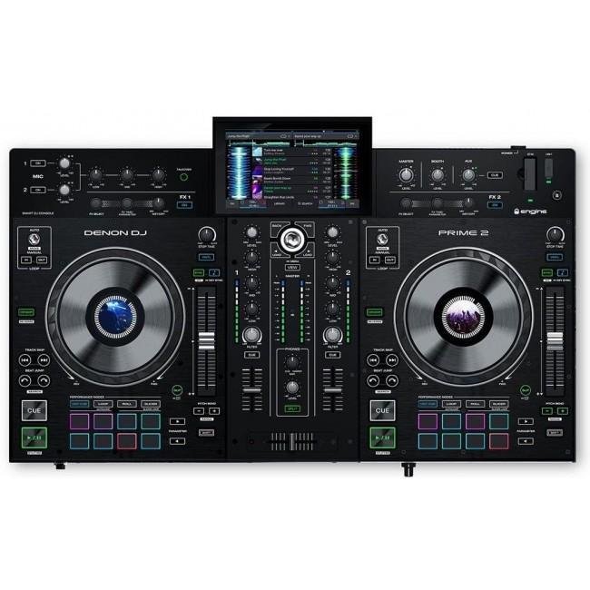 """Denon Dj PRIME2   Consola de DJ de 2 Cubiertas con Pantalla Táctil de 7"""""""