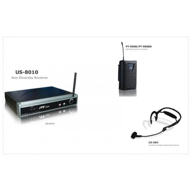 JTS US8010-PT900B-CX504   Sistema de Micrófono Vincha Inalambrico Cardioide