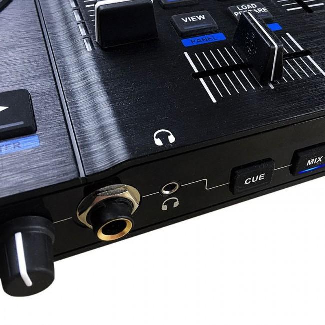 Hercules HER-JOGVISION | Controlador para Dj con dos decks y mezclador central (Incluye Serato Lite)