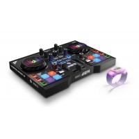 Hercules HER-INSTINCT-P8-PARTY | Controlador Dj con 8 pads de sample y pulseras multicolor (Incluye Software)