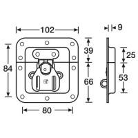 Adam Hall 17233   Cierre giratorio de embutir con porta candado
