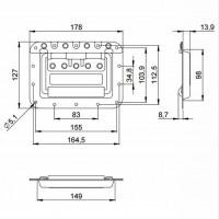 Adam Hall 34085 | Manija rebatible de embutir grande con suspensión