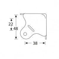 Adam Hall 4004   Esquinero plano grande metálico para anvil o estuche