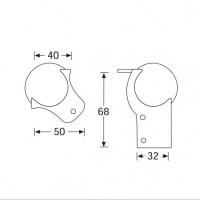 Adam Hall 41201   Esquinero Metálico Dos Puntas con extensión