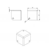 ADAM HALL 4001 | Esquinero cuadrado chico para anvil, baúl o rack